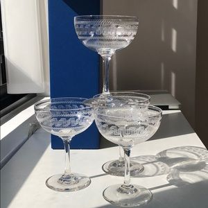 Other - Set of 4 Small Etched Champaign Cocktail
